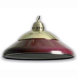 Luxus billard lampe i metal, 45cm, Burgundy/Messin